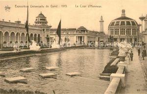AK / Ansichtskarte Gand_Belgien Exposition Universelle de Gand 1913 La Cour d Honneur Gand Belgien