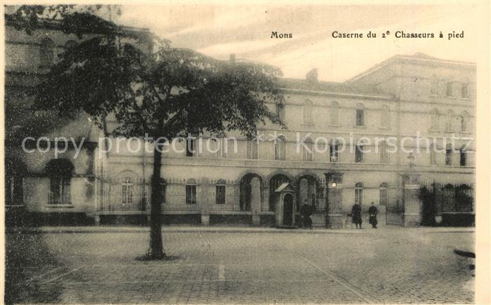 AK / Ansichtskarte Mons_Belgien Caserne du 2e Chasseurs a pied Mons Belgien