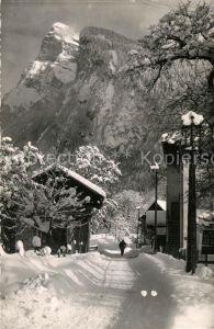 AK / Ansichtskarte Samoens Route des Moulins et le Criou en hiver Samoens