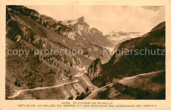 AK / Ansichtskarte Saint Pierre de Rumilly Panorama Vallee du Borne et les Rochers de Leschaux Alpes Saint Pierre de Rumilly