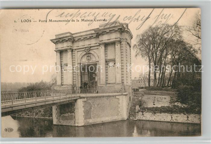 AK / Ansichtskarte Loos_Nord Porte Monumentale de la Maison Centrale Loos_Nord
