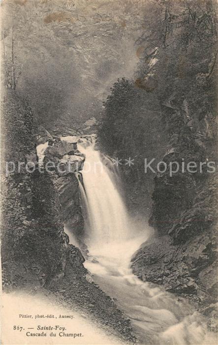 AK / Ansichtskarte Sainte Foy Tarentaise Cascade du Champet Sainte Foy Tarentaise