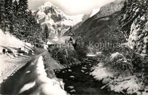 AK / Ansichtskarte Sixt Fer a Cheval Vallee du Giffre Route du Fer a Cheval Pointe du Tenneverge en hiver Alpes Sixt Fer a Cheval
