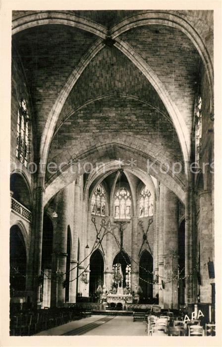 AK / Ansichtskarte Lectoure Interieur de la Cathedrale Saint Gervais Lectoure