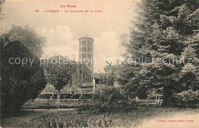 AK / Ansichtskarte Lombez Le Clocher et la Parc Lombez