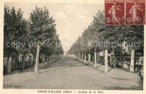 AK / Ansichtskarte Cosne d_Allier Avenue de la Gare Cosne d Allier