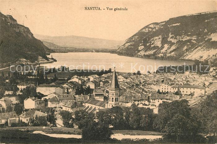 AK / Ansichtskarte Nantua Vue generale Montagnes Nantua