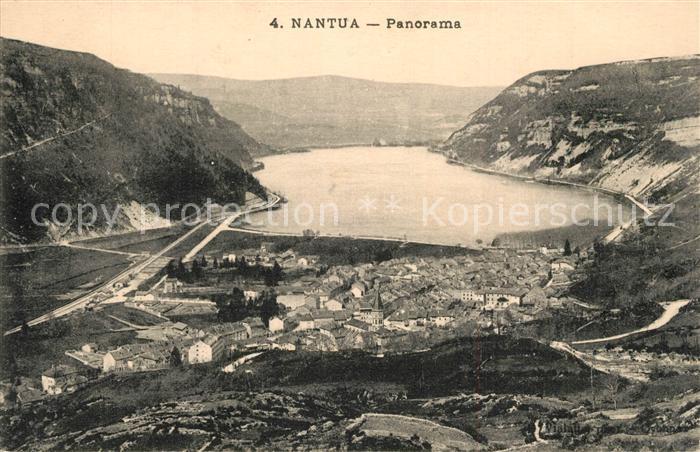AK / Ansichtskarte Nantua Panorama Lac de Nantua Montagnes Nantua