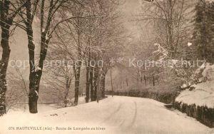 AK / Ansichtskarte Hauteville Lompnes Route de Lompnes en hiver Hauteville Lompnes
