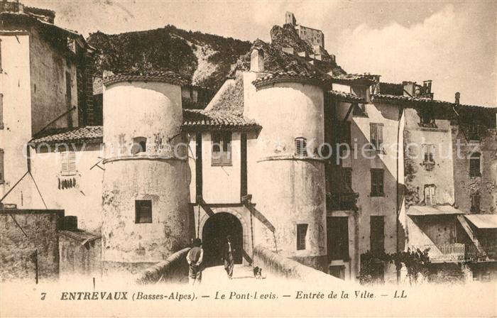 AK / Ansichtskarte Entrevaux Le Pont Levis Entree de la Ville Entrevaux