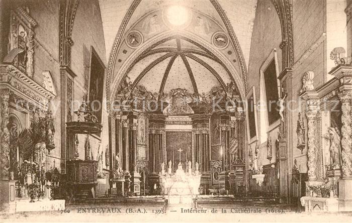 AK / Ansichtskarte Entrevaux Interieur de la Cathedrale Entrevaux
