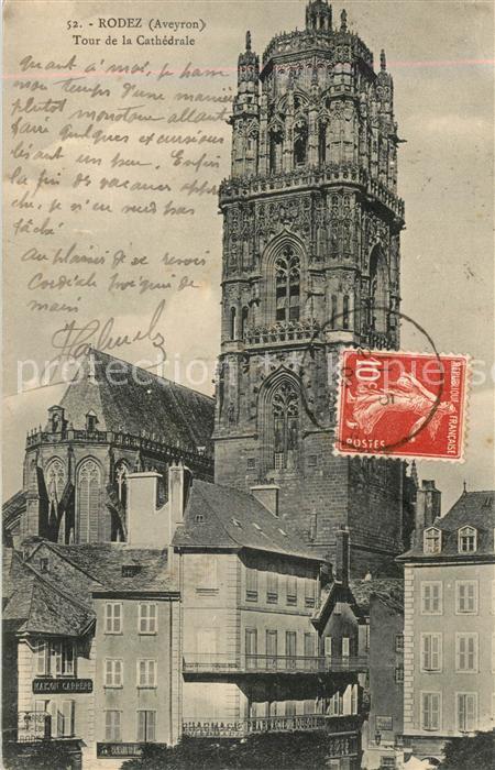 AK / Ansichtskarte Rodez Tour de la Cathedrale Rodez