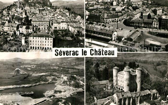 AK / Ansichtskarte Severac le Chateau Vue generale Quartier de la Gare Le Lac Le Chateau de Loupiac Severac le Chateau