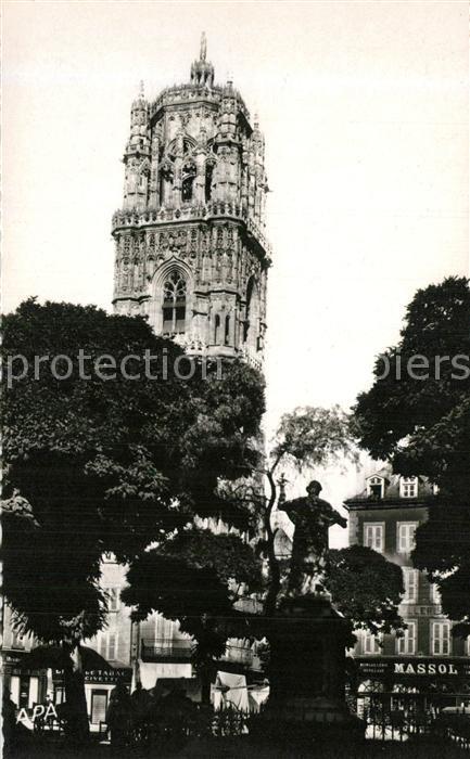 AK / Ansichtskarte Rodez Clocher de la Cathedrale Vue de la place de la Cite Rodez
