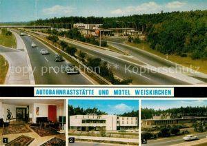 AK / Ansichtskarte Autobahn Rastst?tte Motel Weiskirchen