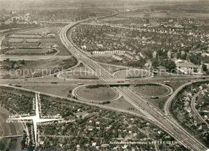 AK / Ansichtskarte Autobahn Fliegeraufnahme Autobahnverkehrskreuz Leverkusen