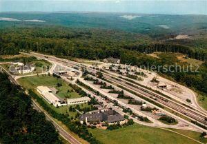 AK / Ansichtskarte Autobahn Rasthaus im Spessart Rohrbrunn Fliegeraufnahme