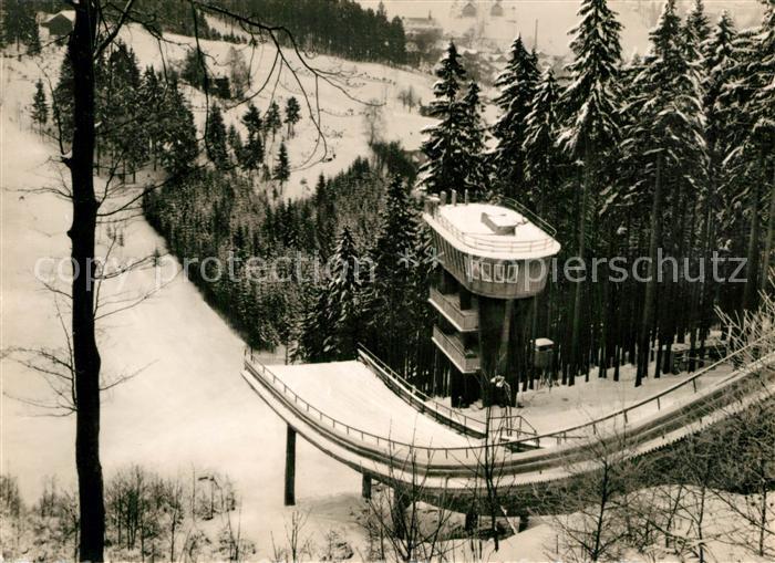 AK / Ansichtskarte Ski Flugschanze Grosse Aschberg Schanze Klingenthal