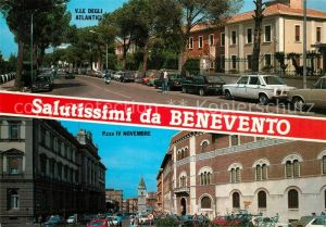 AK / Ansichtskarte Benevento Via le Degli Atlancici Piazza IV Novembre Benevento