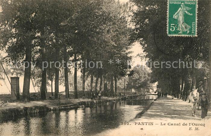 AK / Ansichtskarte Pantin Canal de l Ourcq Pantin