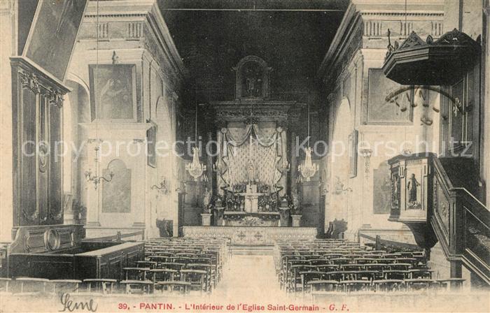AK / Ansichtskarte Pantin Interieur de l Eglise Saint Germain Pantin
