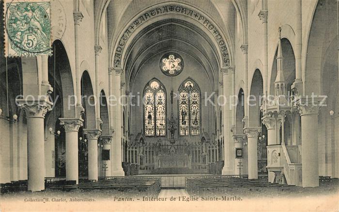 AK / Ansichtskarte Pantin Interieur de l Eglise Sainte Marthe Pantin