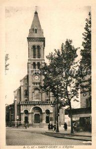 AK / Ansichtskarte Saint Ouen_Seine Saint Denis Eglise Kirche Saint Ouen