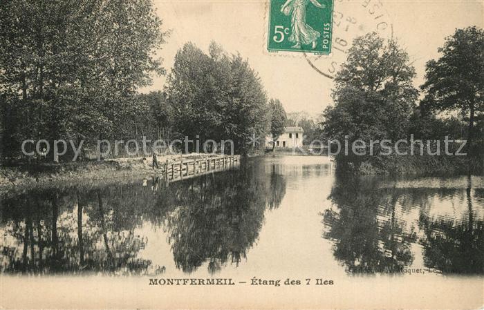 AK / Ansichtskarte Montfermeil Etang des 7 Iles Montfermeil