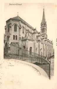 AK / Ansichtskarte Saint Cloud_Hauts de Seine Eglise Kirche Saint Cloud