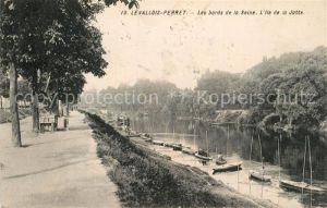 AK / Ansichtskarte Levallois Perret Les bords de la Seine Ile de la Jatte Levallois Perret