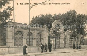 AK / Ansichtskarte Clichy Asnieres Entree du Cimetiere des Chiens Clichy Asnieres