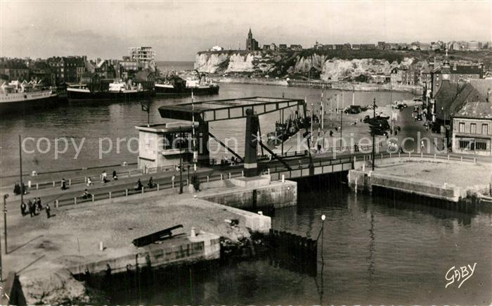 AK / Ansichtskarte Dieppe_Seine Maritime Le Port et le nouveau Pont Dieppe Seine Maritime