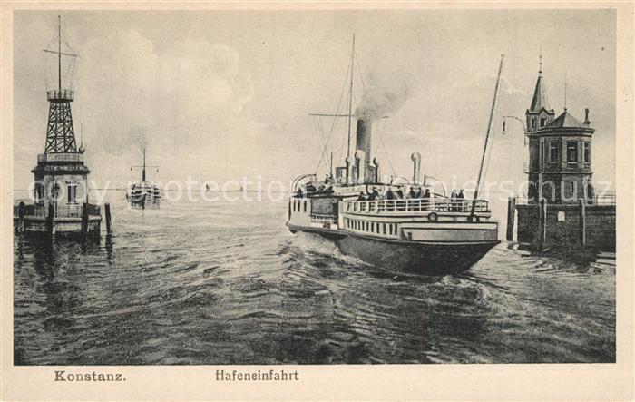 AK / Ansichtskarte Konstanz_Bodensee Hafeneinfahrt Konstanz_Bodensee