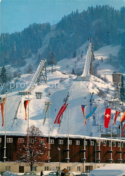 AK / Ansichtskarte Ski Flugschanze Olympia Skistadion Garmisch Partenkirchen
