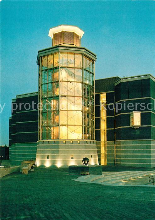 AK / Ansichtskarte Leeds_West_Yorkshire Royal Armouries Museum The Yorkshire Electricity Hall of Steel ad dusk