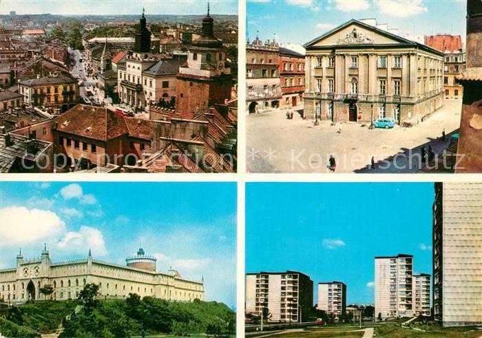 AK / Ansichtskarte Lublin Widok ogolny Zamek Stary Ratusz Aleja PKWN Lublin