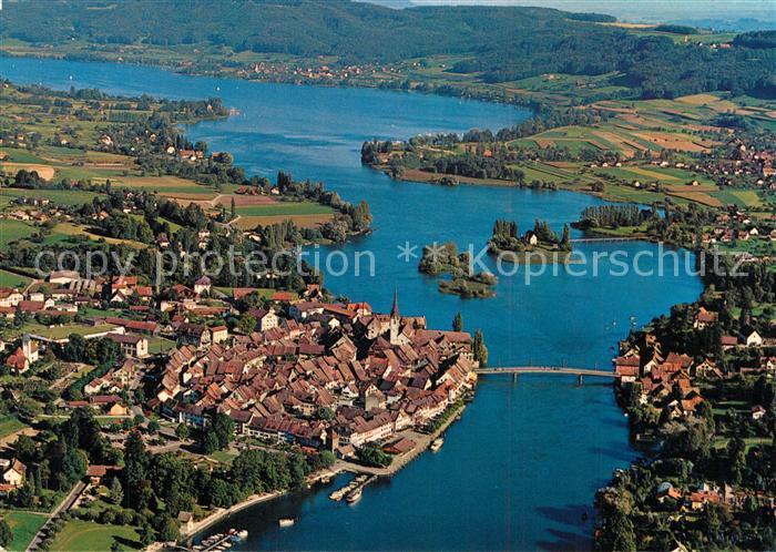 AK / Ansichtskarte Stein_Rhein Fliegeraufnahme mit Untersee Stein Rhein