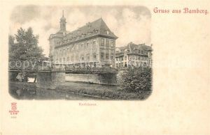 AK / Ansichtskarte Bamberg Rathaus Bamberg