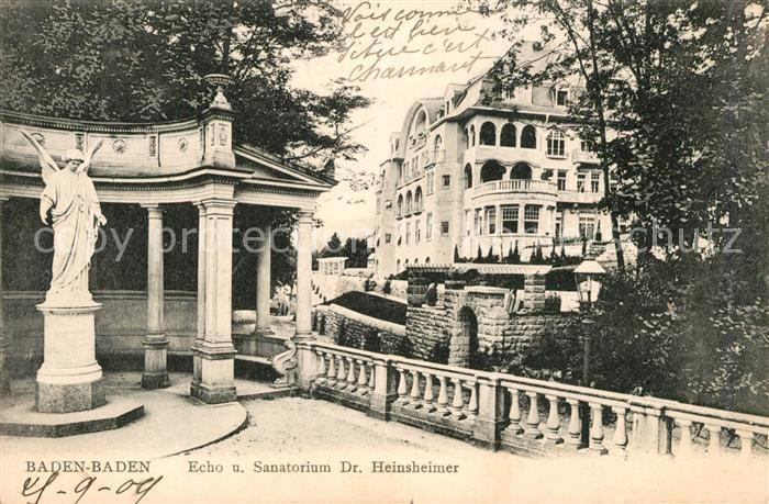 AK / Ansichtskarte Baden Baden Echo Sanatorium Heinsheimer Baden Baden
