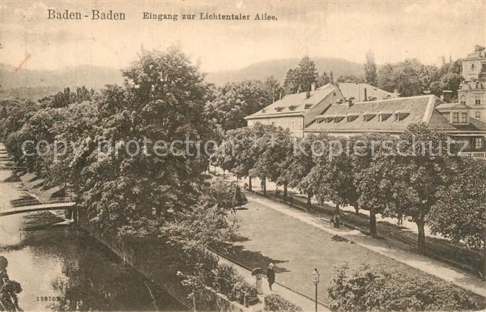 AK / Ansichtskarte Baden Baden Eingang Lichtentaler Allee Baden Baden