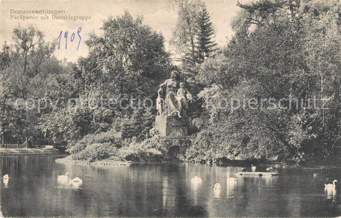 AK / Ansichtskarte Donaueschingen Parkpartie Danubiagruppe Donaueschingen