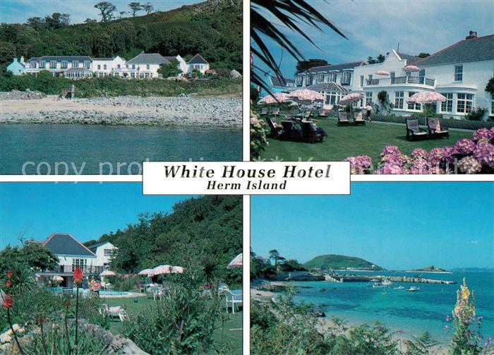 AK / Ansichtskarte Herm_Island White Hous Hotel Garten Panorama Herm_Island
