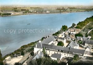 AK / Ansichtskarte Saint Maur sur le Loir Abbaye de Saint Maur Vue aerienne Saint Maur sur le Loir