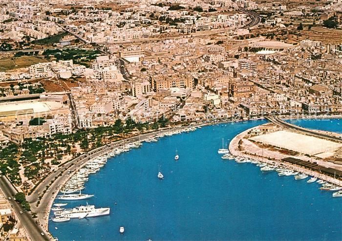 AK / Ansichtskarte Malta Yacht Marina Gzira Fliegeraufnahme Malta