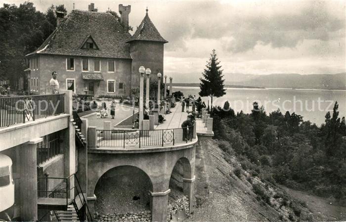 AK / Ansichtskarte Thonon les Bains Place du Chateau et Terrasses sur le Lac Leman Thonon les Bains