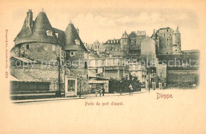 AK / Ansichtskarte Dieppe_Seine Maritime Porte du port d ouest Dieppe Seine Maritime