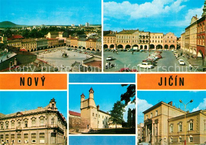 AK / Ansichtskarte Novy_Jicin Marktplatz Kirche Rathaus Novy_Jicin