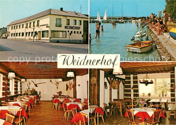 AK / Ansichtskarte Weiden_See Weidnerhof Restaurant Neusiedlersee Weiden_See
