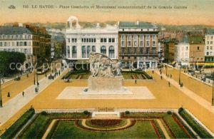 AK / Ansichtskarte Le_Havre Place Gambetta Monument commemoratif de la Grande Guerre Le_Havre