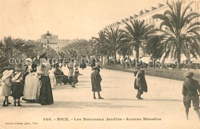 AK / Ansichtskarte Nice_Alpes_Maritimes Les Nouveaux Jardins Avenue Massena Nice_Alpes_Maritimes